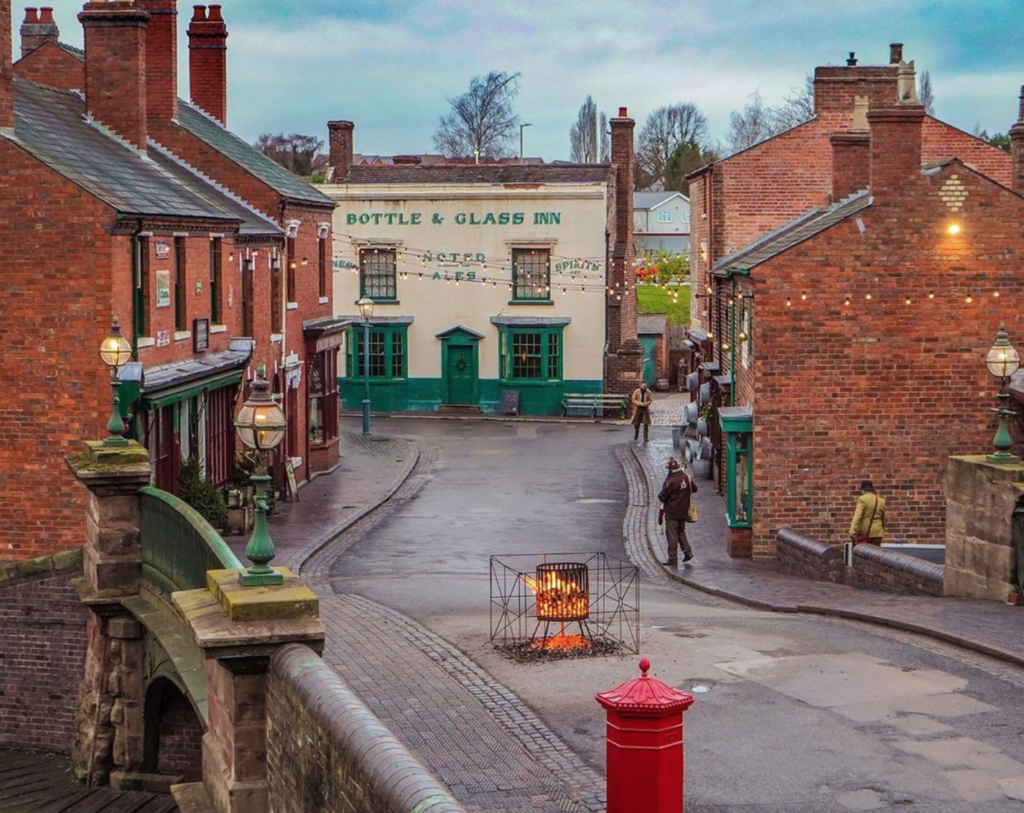 Main street without visitors at black country living museum
