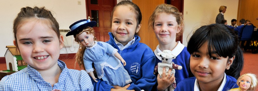 Primary children at black country living museum