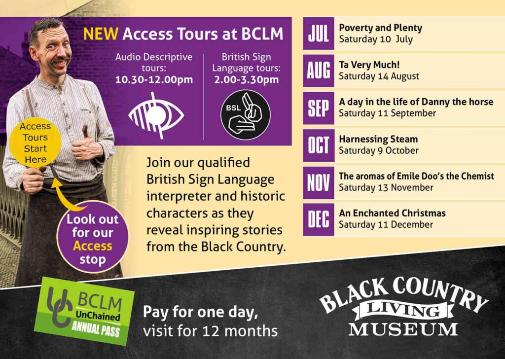 Access Tours at Black Country Living Museum
