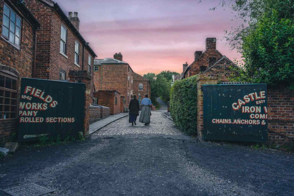 Sunset in black country living museum