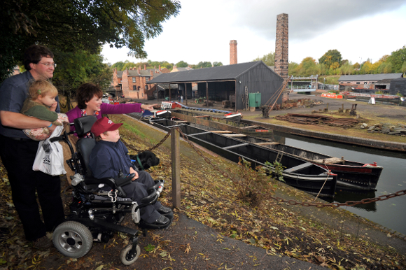 Access users on canal at Black Country Living Museum
