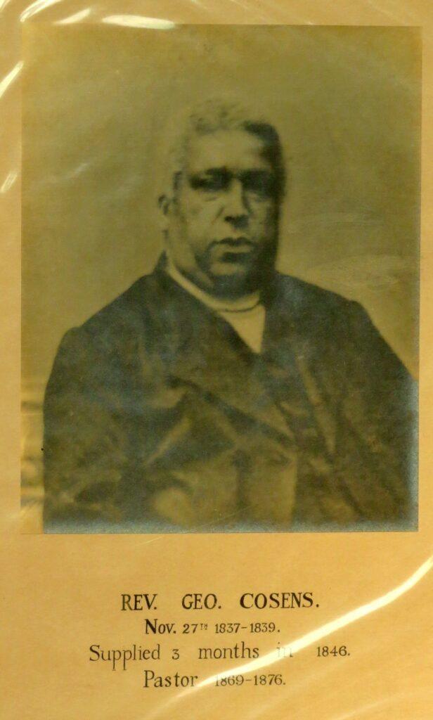 Historic photo of Reverend George Cosens, 1876